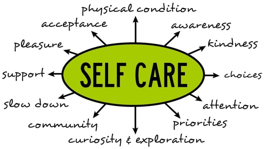 massage therapy self care concept