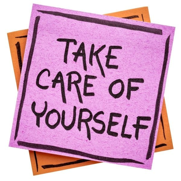 self-care note to massage therapists